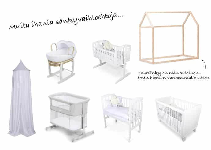 Vastasyntyneen tarvikkeet – lastenhuoneen sisustus